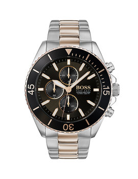 Two Tone Chronograph Watch With Contrast Rotating Bezel Two Tone Chronograph Watch With Contrast Rotating Bezel by Boss