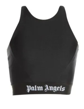 Logo Tape Crop Top by Palm Angels