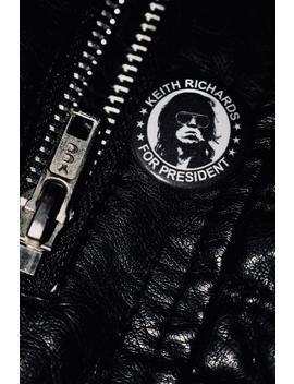 Keith Richards Für Präsident   Handgemachte Knopf Abzeichen   Die Rolling Stones by Etsy