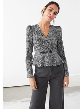Peplum Duo Button Wrap Blouse by & Other Stories