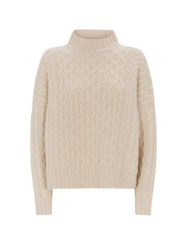 Wool Cable Knit Origano Sweater by Weekend Max Mara