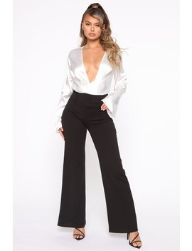 Tabitha Belted Pants   Black by Fashion Nova