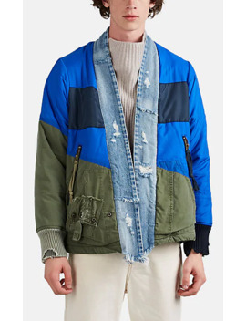Puffy Kimono Mixed Media Jacket by Greg Lauren