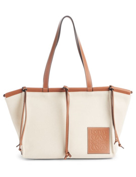 Cushion Leather Convertible Gusset Tote by Loewe