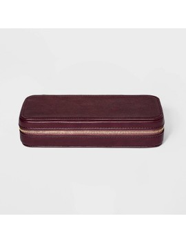 Large Zippered Jewelry Storage Travel Case   A New Day™ by A New Day