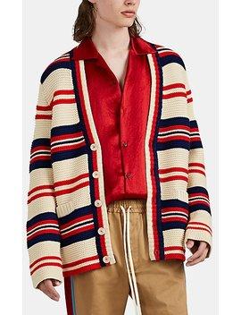 """""""Tricot Pour La Côte D'azur"""" Cotton Wool Cardigan by Gucci"""