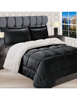 Elegant Comfort Luxury Micro Mink Reversible Sherpa Comforter Set   Heavy Weight by Asstd National Brand