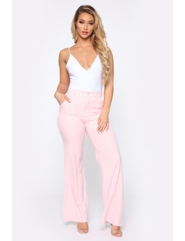 Secure The Bag Flare Pants   Baby Pink by Fashion Nova