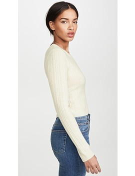 Cropped Crew Neck Cashmere Sweater by Reformation