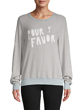 Pour Favor Graphic Sweatshirt by Wildfox