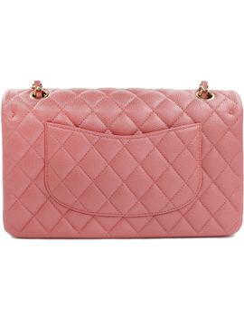 Chanel Classic Double Flap Quilted Caviar Gold Tone Medium Pink by Stock X