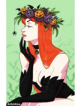 Poison Ivy: Halloween Flower Crown by Etsy
