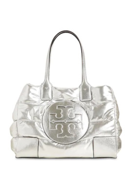 Ella Mini Quilted Nylon LamÉ Tote Bag by Tory Burch