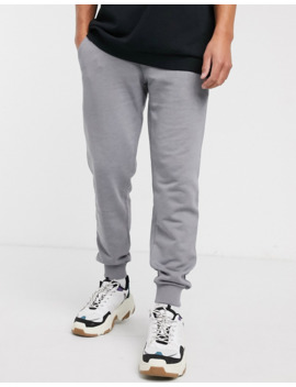Asos Design Tapered Joggers In Light Grey Marl by Asos Design