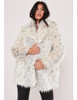 Plus Size Premium Cream Faux Fur Jacket by Missguided