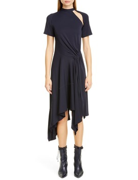Asymmetrical Deconstructed Midi Dress by Monse