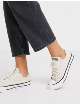 Converse Cream Chuck Taylor Ox All Star Renew Recycled Sneakers by Converse