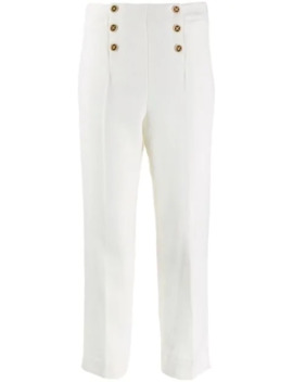 High Waist Fitted Trousers by Edward Achour Paris