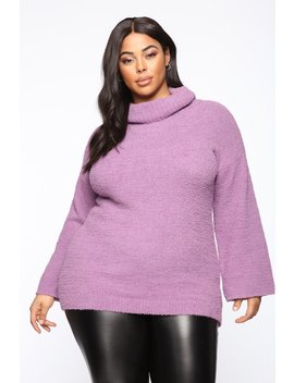 Getting To Know You Tunic Sweater   Lavender by Fashion Nova