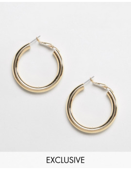 Liars &Amp; Lovers Exclusive Gold Tube Hoop Earrings by Liars & Lovers