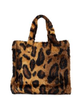 Lolita Leopard Faux Fur Medium Tote Bag by Stand