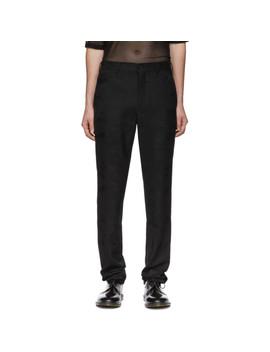 Black Camo Trousers by Comme Des GarÇons Homme Plus
