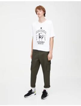 Παντελόνι Cargo με τσέπες με καπάκι by Pull & Bear