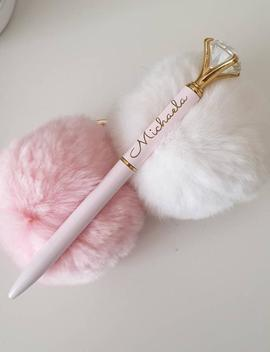 Personalised Name Jewel Pen Pink by Etsy