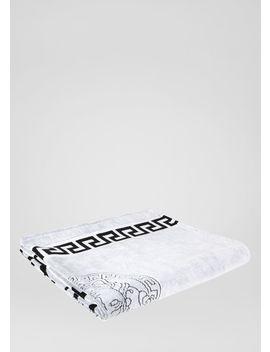 Versace Logo Beach Towel by Versace