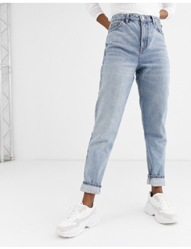 Topshop   Mom Jeans In Bleekwassing by Topshop