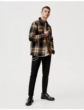 Καρό Overshirt με τσέπες by Pull & Bear