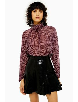Idol Checkboard Cowl Blouse by Topshop