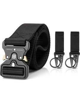 Premium Rigger Belt | Met 2 Gratis Sleutelhouders | Metalen Cobra Gesp | Quickrelease Buckle | 125 Cm | Zwart | Herculez Werkriem | Tactical Belt by Herculez