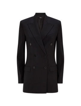 Good Wool Double Breasted Blazer by Theory