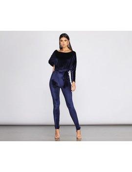 A Formal Affair Velvet Jumpsuit by Windsor