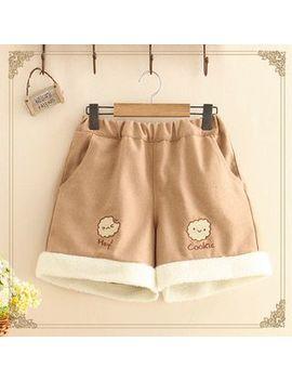 Kawaii Fairyland   Cookie Embroidered Shorts by Kawaii Fairyland