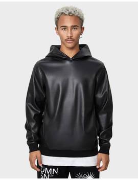 Faux Leather Sweatshirt by Bershka