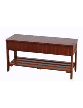 The Gray Barn Waggoner Solid Wood Shoe Bench With Storage   Cherry Finish   Cherry by The Gray Barn