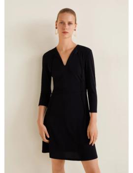 Teksturowana Sukienka Ze Sznurkiem by Mango