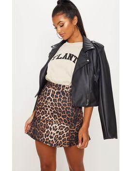 Leopard Print Printed Flippy Hem Mini Skirt by Prettylittlething