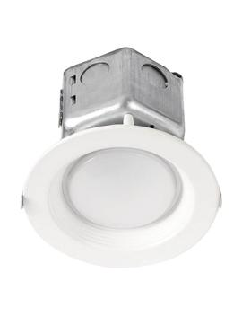 65 Watt Equivalent 10 Watt 4 In. Dimmable White Integrated Led Recessed Canless Retrofit Trim 120 277 V Soft White 99611 by Halco Lighting Technologies