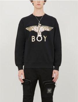 Graphic Print Cotton Jersey Sweatshirt by Boy London