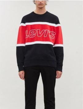 Embroidered Logo Striped Cotton Jersey Sweatshirt by Levi's