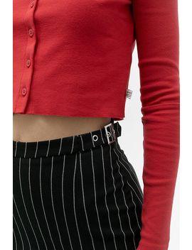 Urban Renewal Inspired By Vintage Black Pinstripe Pleated Skirt by Urban Renewal