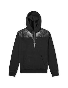 Marcelo Burlon Black Wings Shoulder Popover Hoody by Marcelo Burlon