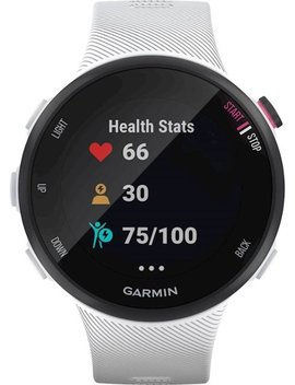 Forerunner 45 S Gps Heart Rate Monitor Running Smartwatch   White by Garmin