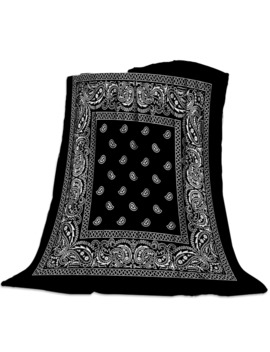 Bandana Pattern Silk Scarf Square Handkerchief Printed Soft Fleece Blankets Warm Sofa Bed Sheets by Ali Express.Com