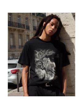T Shirt Noir Coton Sérigraphie Rock by The Kooples