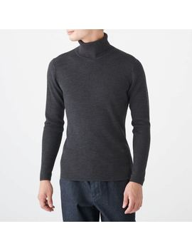 Non Itchy Turtle Neck Sweater by Muji