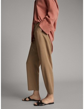 Knit Jogging Trousers by Massimo Dutti